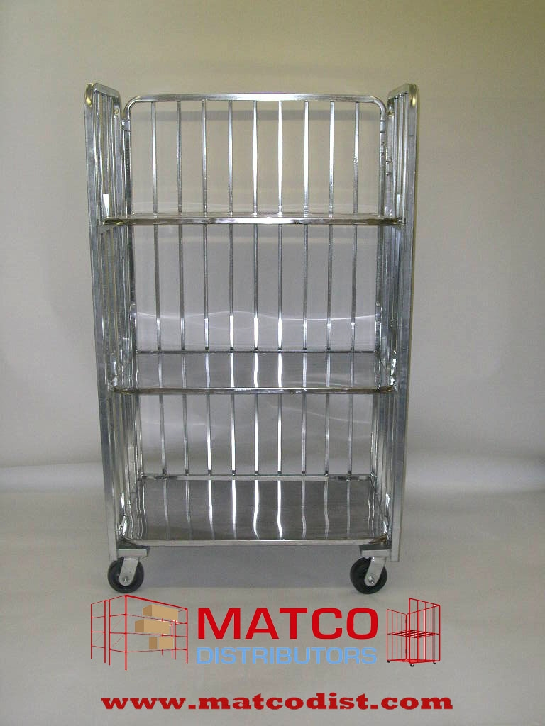 360 dozen egg display or distribution cart, 3 shelves, folding cart