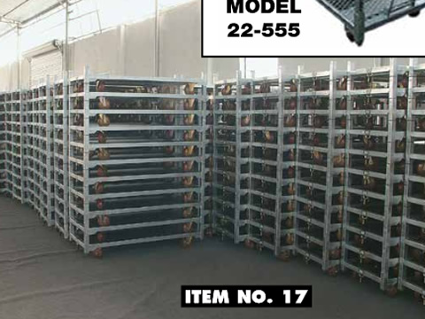 Galvanized Carts with Removable Shelves for Sale